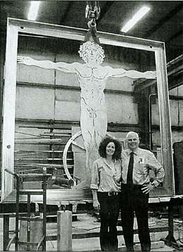 Vitruvian Man Sculpture